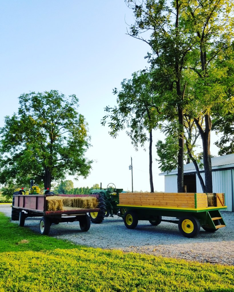 hayrides | Hillside Acres | fall activities | John Deere tractors