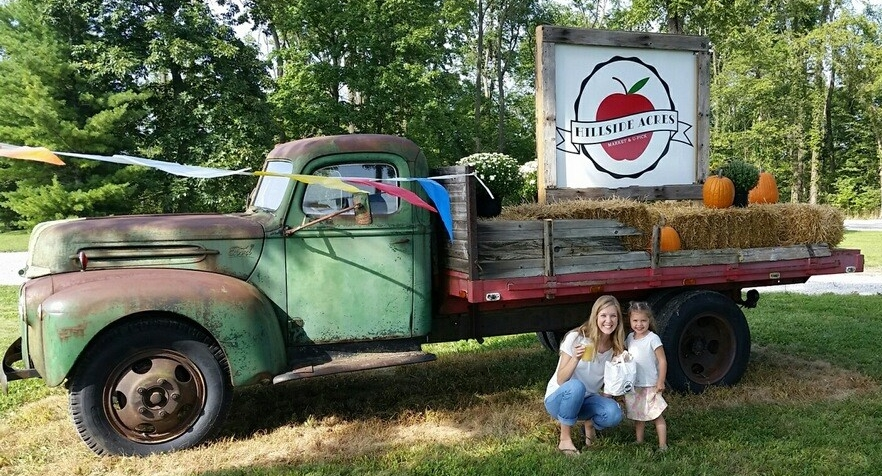 market & u-pick | Hillside Acres | antique truck