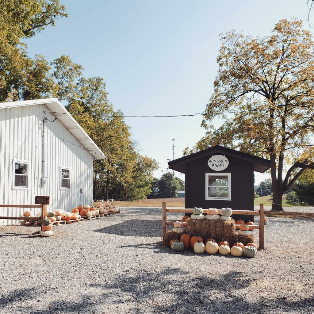 admission booth | hillside acres | pumpkins | u-pick farm | fall | agritourism | pumpkin patch